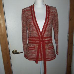 Vintage Belted Cardigan M